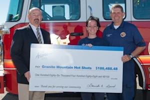 Arizona State Credit Union Collects over $180K for Granite Mountain Hotshots