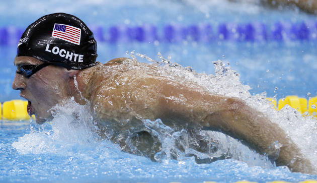 U.S. Ryan Lochte competes on his way to winning the gold medal in the men's 400m Individual Medley final at the FINA Swimming World Championships in Shanghai, China, Sunday, July 31, 2011. (AP Photo/E