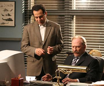 Tony Shalhoub and Ted Levine USA Network's Monk