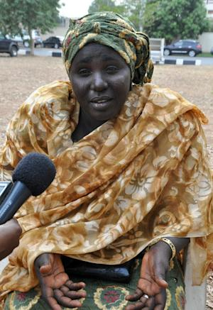 Mother of a kidnapped Chibok schoolgirl Rebecca Samuel,…