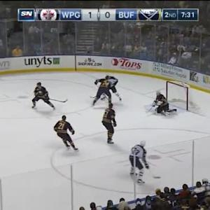 Jhonas Enroth Save on Dustin Byfuglien (12:30/2nd)