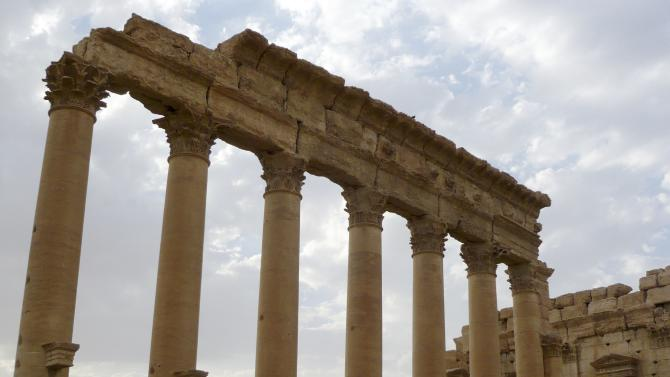 A view shows the Temple of Bel in the historical city of Palmyra