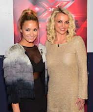 Demi Lovato and Britney Spears are seen at 'The X Factor' auditions at Oracle Arena in Oakland, Calif. on June 16, 2012 -- Getty Premium