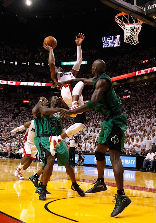Dwyane Wade #3 Of The Miami Heat Makes Getty Images
