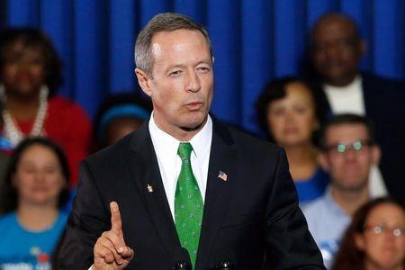 Maryland Governor Martin O'Malley speaks at a campaign rally for Lieutenant Governor Anthony Brown in Maryland