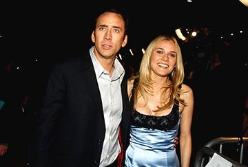 Nicolas Cage and Diane Kruger at the LA premiere of Touchstone's National Treasure