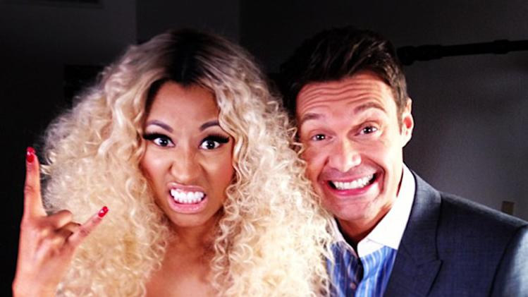 Ryan Seacrest and Nicki Minaj