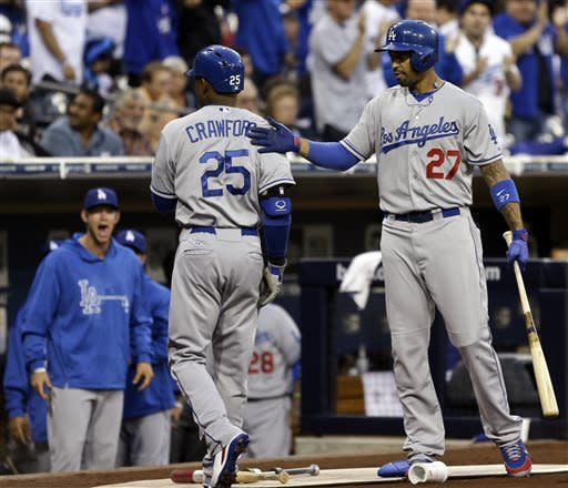 Crawford, Ellis back Billingsley as Dodgers win