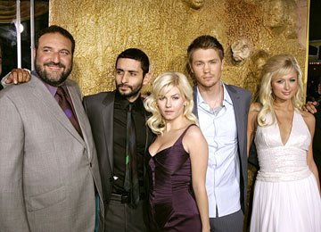 Producer Joel Silver , director Jaume Collet-Serra , Elisha Cuthbert , Chad Michael Murray and Paris Hilton at the Westwood premiere of Warner Bros. Pictures' House of Wax