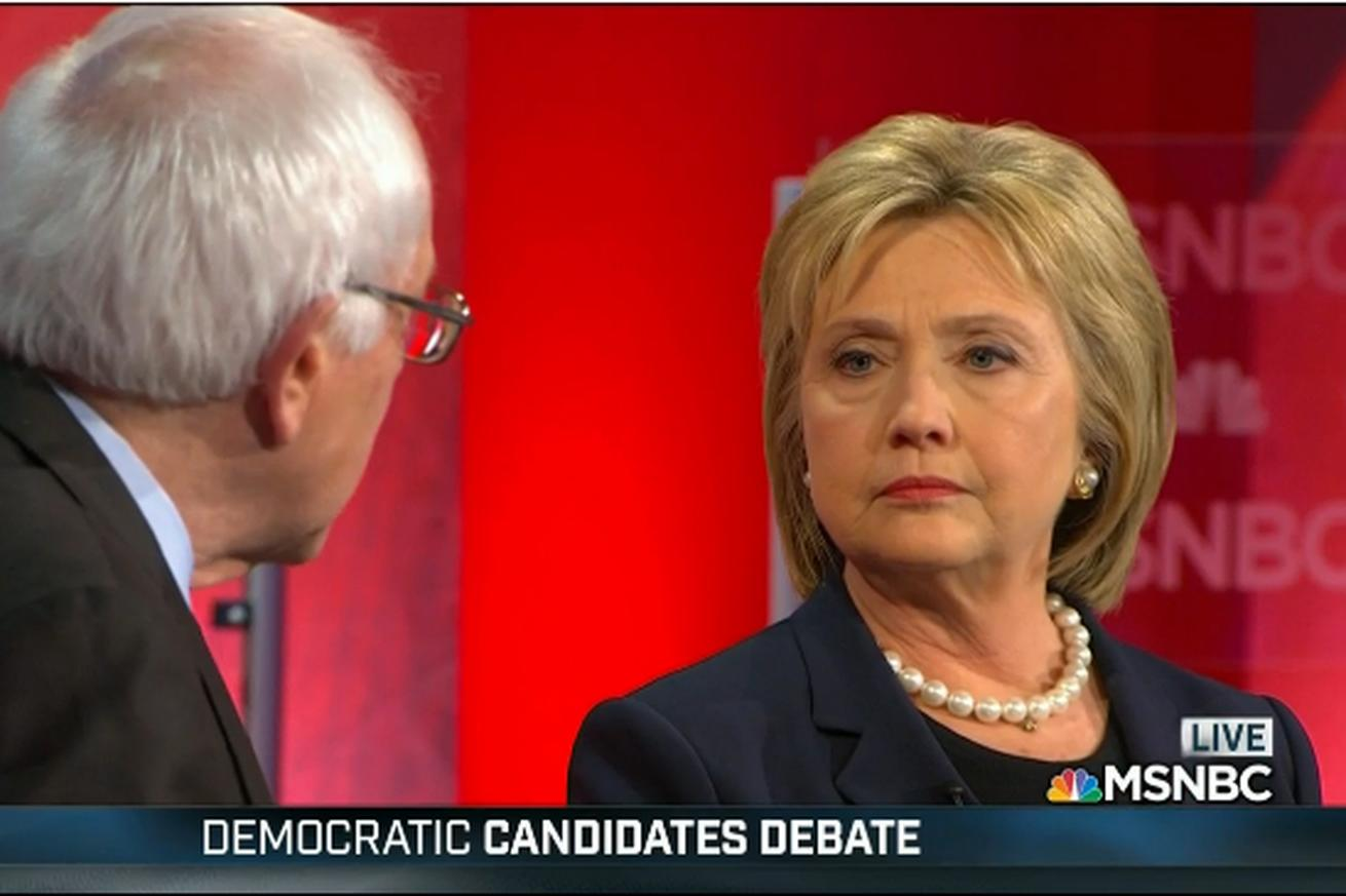 Finally, Bernie Sanders and Hillary Clinton had a real argument over how politics works