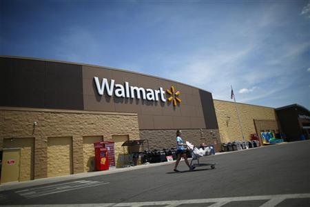 A Walmart store, that was destroyed by a tornado and later rebuilt, is seen in Joplin, Missouri