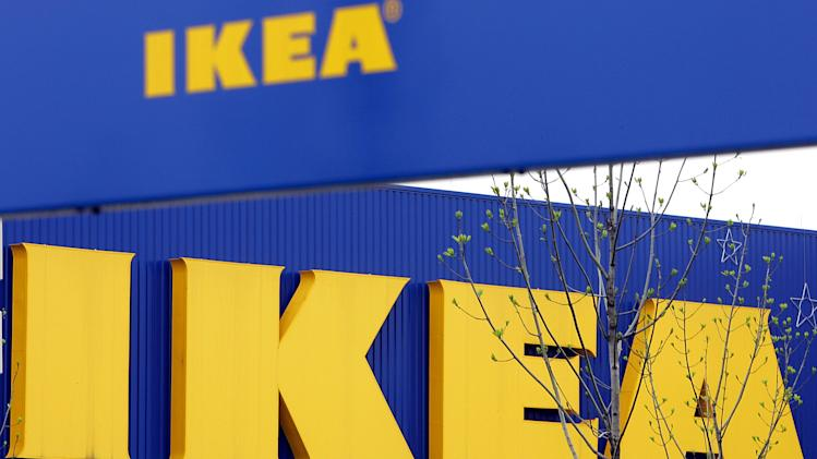 FILE - In this April 27, 2006 file photo, an exterior view of the Ikea furniture store in Duisburg, western Germany. Ikea says it has withdrawn 17,000 portions of moose lasagna from its home furnishings stores in Europe after traces of pork were found in a batch tested in Belgium. (AP Photo/Frank Augstein, File)