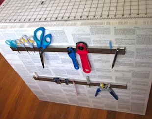 Organize metallic tools using IKEA magnet strips