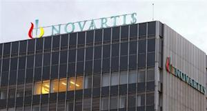 Logo of Swiss drugmaker Novartis is seen at its headquarters in Basel