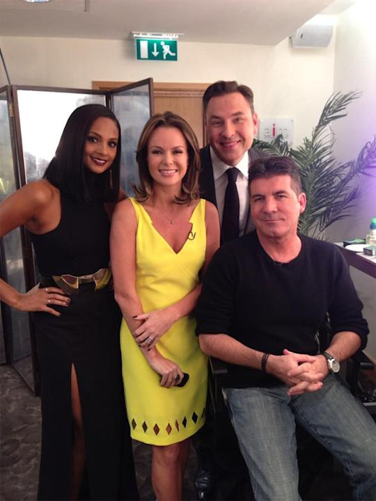 Celebrity Twitpics: The Britain's Got Talent auditions kicked off again this week. All four of the judges from last year's series are returning, with David Walliams tweeting this photo of them backsta