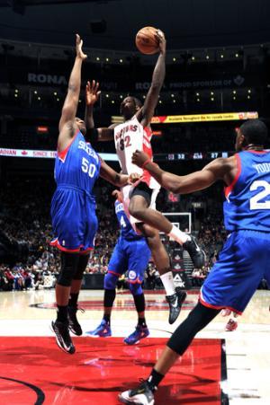Johnson leads Raptors past slumping 76ers 90-72