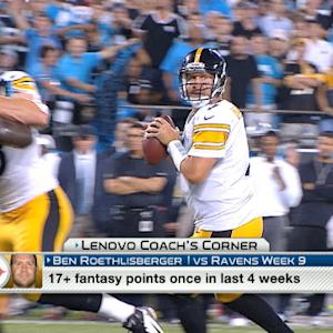 'NFL Fantasy Live': Expectations for Pittsburgh Steelers quarterback Ben Roethlisberger in Week 9