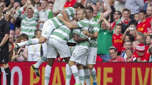 Celtic celebrate Amido Balde's winner
