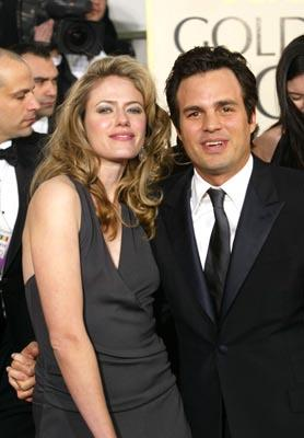 Mark Ruffalo and wife Sunrise Golden Globes - 1/25/2004