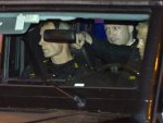 Terror-charged Anders Behring Breivik arrives in the back of a police car at the court in Oslo Friday, Aug. 19, 2011. The confessed killer of 77 people in Norway faced a closed-door hearing to ...