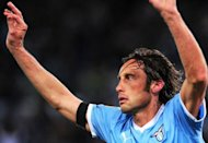 Lazio's midfielder Stefano Mauri (R) is shown during the Italian Serie A football match between Lazio vs Napoli at the Olympic Stadium in Rome in April 2012. Mauri was was arrested in May 2012 over the so-called Calcioscommesse sports betting scandal