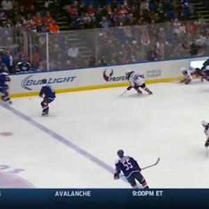 Nate Thompson Hit on Casey Cizikas (02:48/2nd)