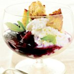 Ricotta with Vanilla-Sugar Croutons And Berry Syrup