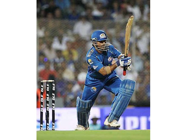 Mumbai Indians skipper Sachin Tendulkar bagged the awards for best batsman and best captain at the at the IPL Awards Night at the Grand Hyatt. (Getty Images)