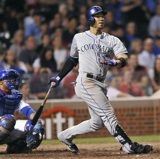 Gonzalez has 2 HRs among 5 hits, Rockies beat Cubs