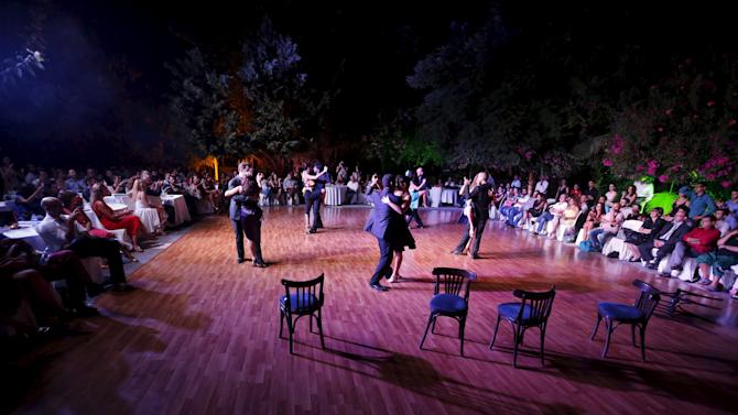 Dancers perform during the second International Festival Tango in Byblos