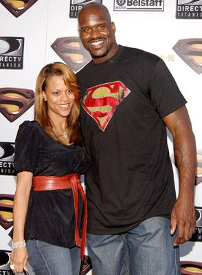 Shaquille O'Neal and Shaunie O'Neal at the Westwood premiere of Warner Bros. Pictures' Superman Returns
