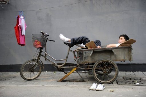 &lt;p&gt;This file photo shows a peddler resting on his trishaw, in Beijing. Asia must fight complacency and transform its economic and social models if it is to keep driving global growth in years to come as Europe and the United States slow, experts say.&lt;/p&gt;