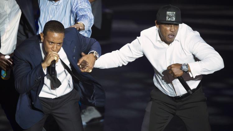 Ludacris and Mystikal perform at the 2014 BMI R&B/Hip-Hop Awards in Hollywood