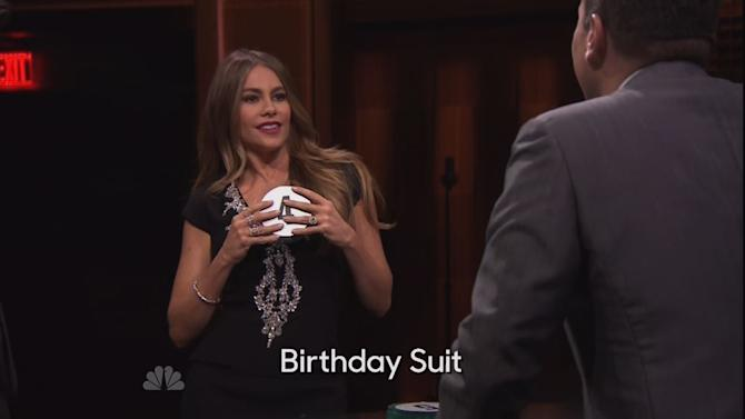 Sofia Vergara Tells Jimmy Fallon She Sleeps Naked During Game of Catchphrase
