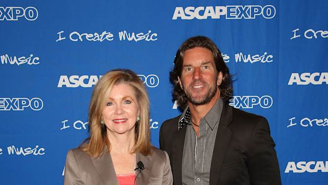 """US Congresswoman Marsha Blackburn (L) and Songwriter/Producer Brett James attend the 8th Annual ASCAP """"I Create Music"""" EXPO, on Saturday, April 20, 2013 in Hollywood, California. (Photo by Brian Dowling/Invision for ASCAP/AP Images)"""