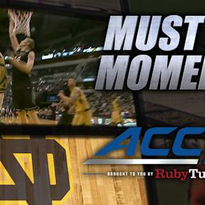 Notre Dame's Demetrius Jackson Dunks on 7-Footer | ACC Must See Moment