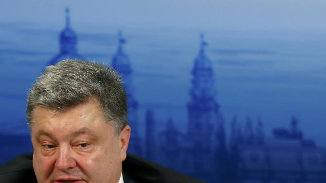 Ukrainian President Poroshenko speaks during the Presidential debate at the Munich Security Conference in Munich