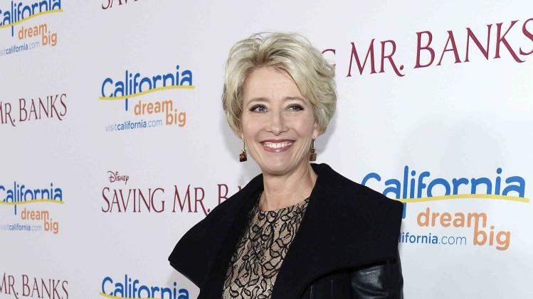 "Emma Thompson attends the film premiere of ""Saving Mr. Banks"" in Burbank"
