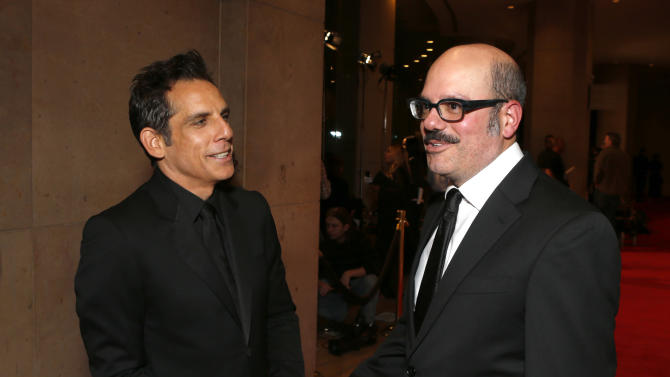 David Cross and Ben Stiller attend the American Cinematheque 26th Annual Award Presentation To Ben Stiller 2012 at The Beverly Hilton Hotel on Thursday November 15, 2012 in Beverly Hills, California.  (Photo by Todd Williamson/Invision/AP Images)