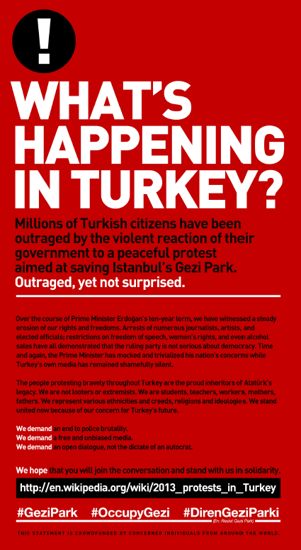 Turkey Protests New York Times Adveritsement