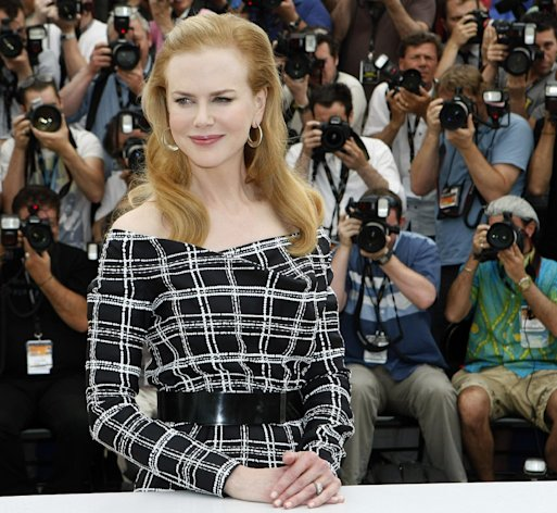 "FILE - In this May 25, 2012 file photo, actress Nicole Kidman poses for photographers during a photo call for ""Hemingway & Gellhorn"" at the 65th international film festival, in Cannes, southern France. Kidman, a first-time Emmy nominee for her lead role in the TV movie, ""Hemingway & Gellhorn,"" said she was raised on ""The Brady Bunch"" and ""Bewitched."" (AP Photo/Lionel Cironneau, File)"