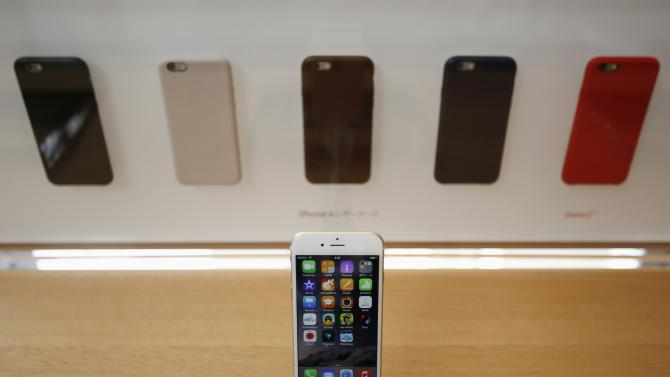 Apple's iPhone 6 is displayed at the Apple Store at Tokyo's Omotesando shopping district