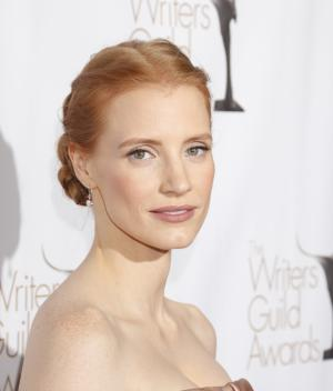 Jessica Chastain attends the 2013 Writers Guild Awards at the JW Marriott on Sunday, Feb. 17., 2013 in Los Angeles. (Photo by Todd Williamson/Invision/AP)
