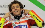 Seven-time world champion Valentino Rossi, pictured in April 2012, on Tuesday denied newspaper reports that he is about to retire from Moto GP