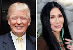 Donald Trump, Cher | Photo Credits: Cindy Ord/Getty Images; Jon Kopaloff/FilmMagic
