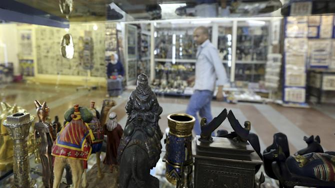 The tourism market is pictured in Luxor city