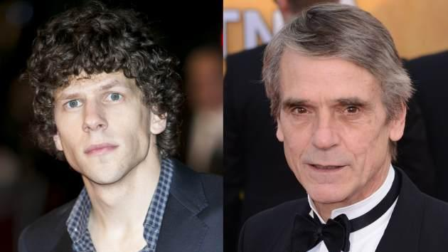 Jesse Eisenberg, Jeremy Irons -- Getty Images