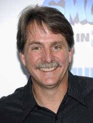FILE - In this Sunday, July 24, 2011 file photo, comedian Jeff Foxworthy attends the premiere of 'The Smurfs' at the Ziegfeld Theatre in New York. Jeff Foxworthy has often used turned to NASCAR for comic fodder. Now, he's thrilled to be doing business with the good ol' boys. Jeff Foxworthy's Grit Chips 200, a 130-lap truck series race, was held Friday night, Aug. 31, 2012 at Atlanta Motor Speedway. (AP Photo/Evan Agostini, File)