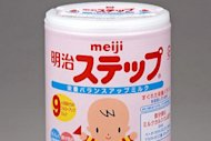This handout picture, released from Japan&#39;s food maker Meiji Holdings shows a canned baby formula &quot;Meiji Step&quot;. Radiation contamination has been found in a leading brand of Japanese baby formula, most likely fallout from the country&#39;s crippled nuclear plant
