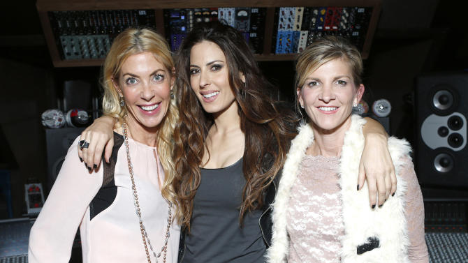 Elaine Culotti, Kerri Kasem and Jennifer Vernon attend the 98.7 Saves Christmas Party at The House of Rock on Wednesday, Dec. 5, 2012, in Los Angeles, Calif. (Photo by Todd Williamson/Invision for House of Rock/AP)